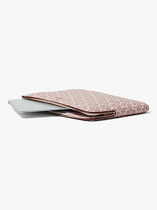 spade flower coated canvas universal laptop sleeve by kate spade new york hover view