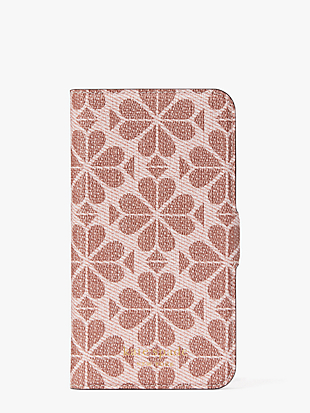 spade flower coated canvas iphone 11 pro magnetic wrap folio case by kate spade new york non-hover view