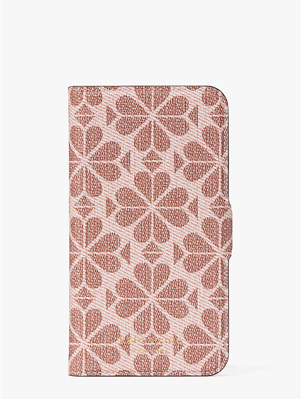 spade flower coated canvas iphone 11 pro magnetic wrap folio case, , rr_large