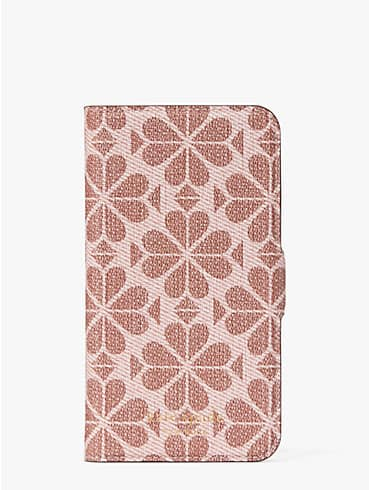 spade flower coated canvas iphone 11 pro magnetic wrap folio case, , rr_productgrid