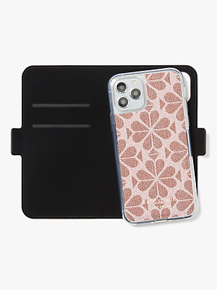 spade flower coated canvas iphone 11 pro magnetic wrap folio case by kate spade new york hover view