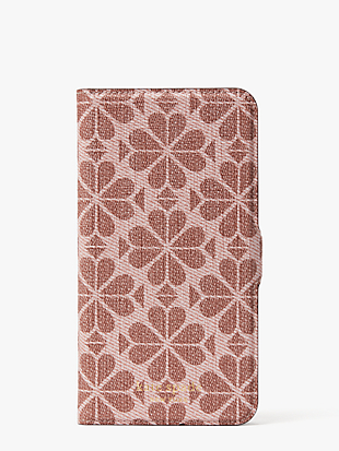 spade flower coated canvas iphone 11 pro max magnetic wrap folio case by kate spade new york non-hover view