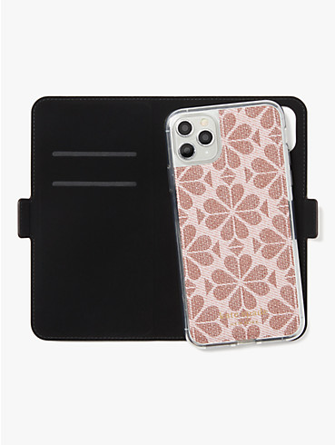 spade flower coated canvas iphone 11 pro max magnetic wrap folio case, , rr_productgrid