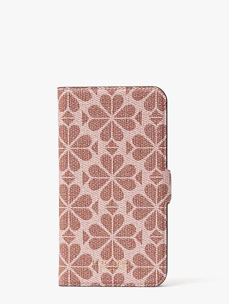 spade flower coated canvas iphone 11 magnetic wrap folio case by kate spade new york