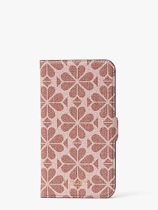 spade flower coated canvas iphone 11 magnetic wrap folio case by kate spade new york non-hover view