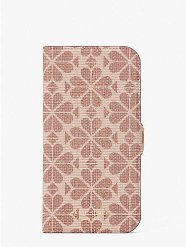 spade flower coated canvas iphone 12 pro max magnetic wrap folio case, , rr_productgrid