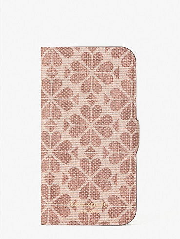 spade flower coated canvas iphone 12/12 pro magnetic wrap folio case, , rr_productgrid