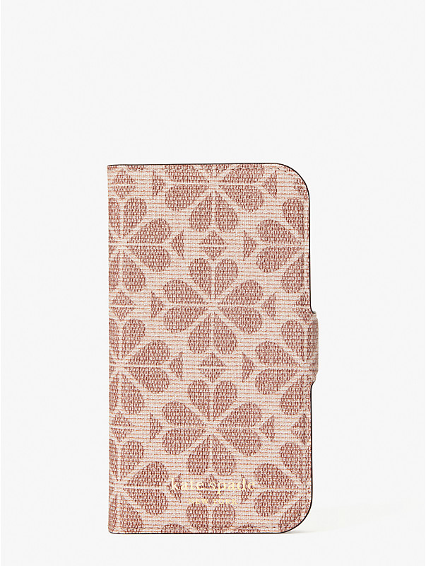 spade flower coated canvas iphone 12 mini magnetic wrap folio case, , rr_large