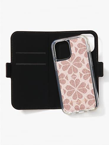 Spade Flower Umschlaghülle aus beschichtetem Canvas für iPhone12 mini, magnetisch, , rr_productgrid