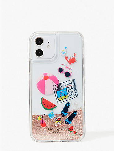 pool party liquid glitter iphone 12/12 pro case, , rr_productgrid