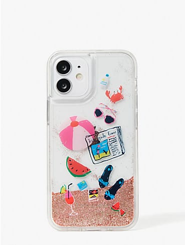 pool party liquid glitter iphone 12 mini case, , rr_productgrid