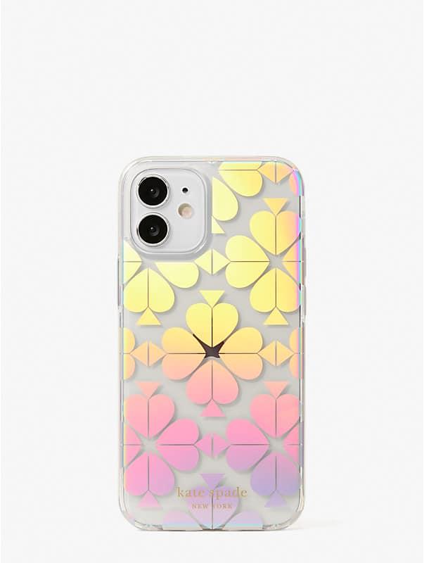 spade flower iridescent iphone 12 mini case, , rr_large