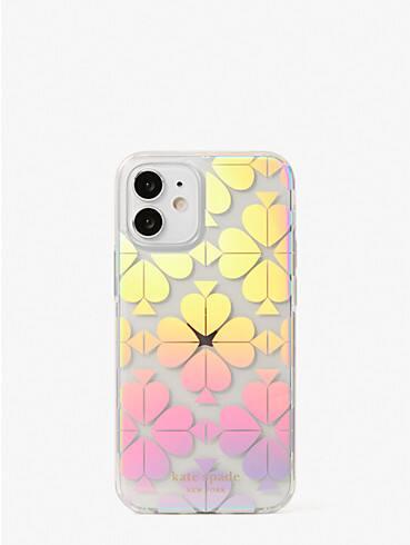 spade flower iridescent iphone 12 mini case, , rr_productgrid