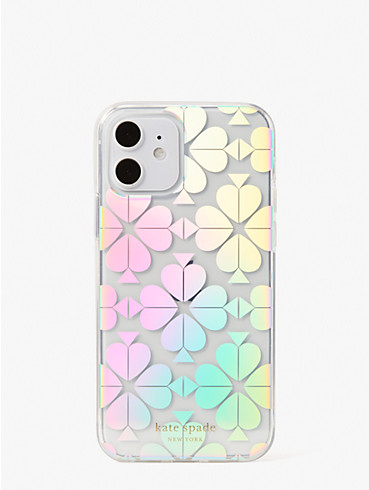 spade flower iridescent iphone 12/12 pro case, , rr_productgrid