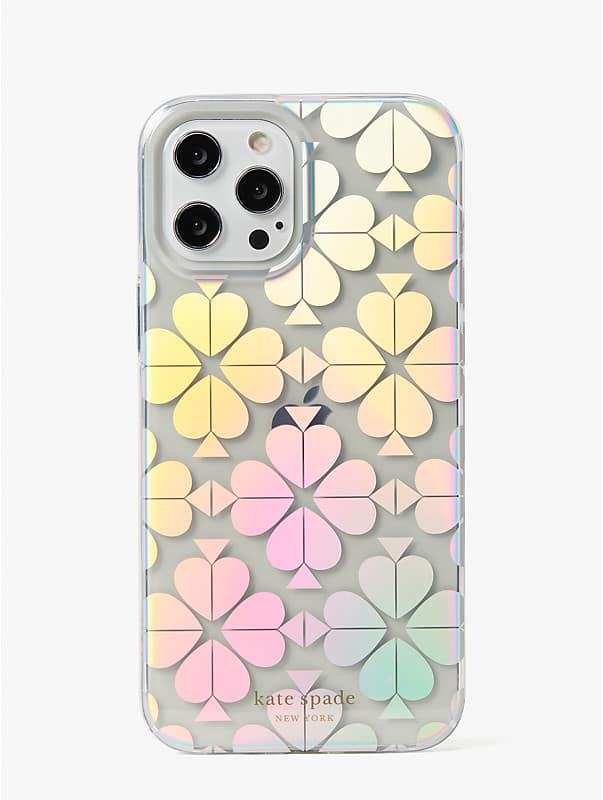 spade flower iridescent iphone 12 pro max case, , rr_large