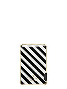 stripe slim battery bank, black/cream, medium