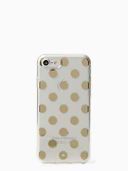 IPHONE CASES le pavillion clear iphone 7 case, clear/gold, medium