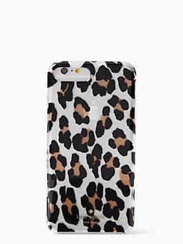 leopard iphone 7 plus case, clear multi, medium