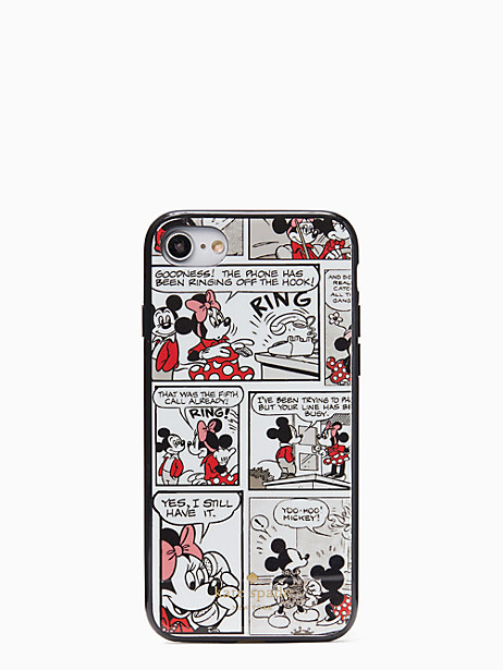 kate spade new york x minnie mouse comic iphone se, 7 & 8 case by kate spade new york