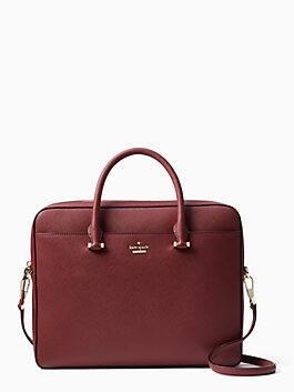 13-inch saffiano laptop bag, sienna, medium