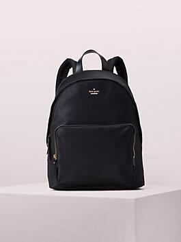 "15"" nylon tech backpack, black, medium"