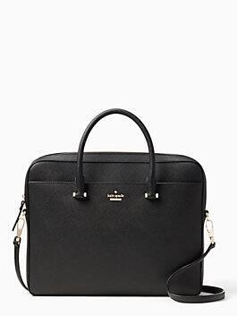 off the grid dessie charging laptop bag, black, medium