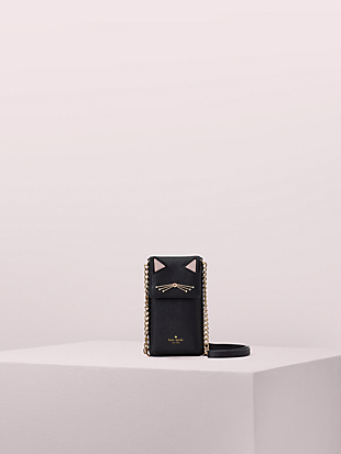 north south cat crossbody iPhone case by kate spade new york non-hover view