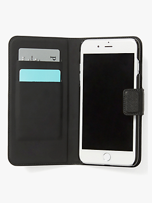 leather wrap iphone 7 & 8 folio case by kate spade new york hover view