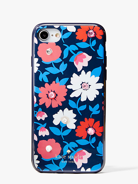 jeweled daisy iphone se, 7 & 8 case by kate spade new york