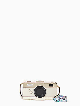 camera with daisy strap iphone x & xs folio case, white multi, medium