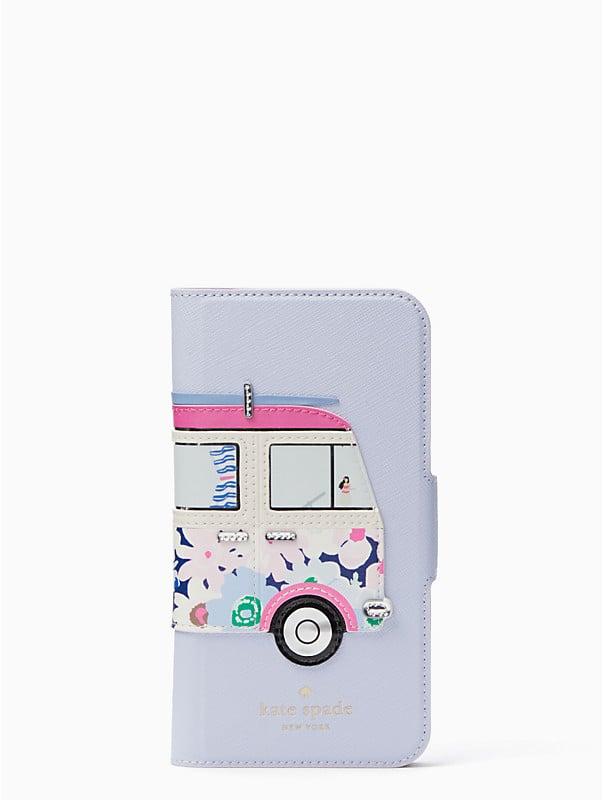surf van applique folio iphone x case, , rr_large