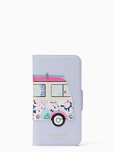 surf van applique folio iphone x case, , rr_productgrid