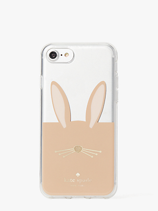 rabbit appliqué iphone 8 case by kate spade new york non-hover view