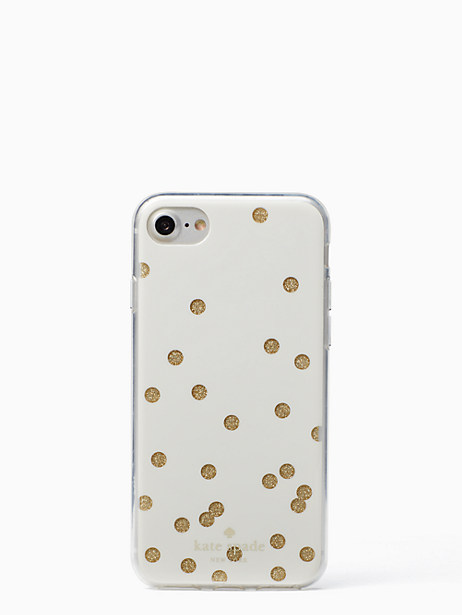 glitter scatter dot iphone 7 & 8 case by kate spade new york