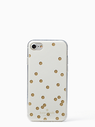 glitter scatter dot iphone 7 & 8 case by kate spade new york non-hover view