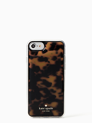 tortoise shell hands free iphone 7 & 8 case by kate spade new york non-hover view