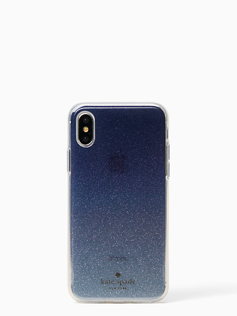 glitter ombre iphone x & xs case by kate spade new york