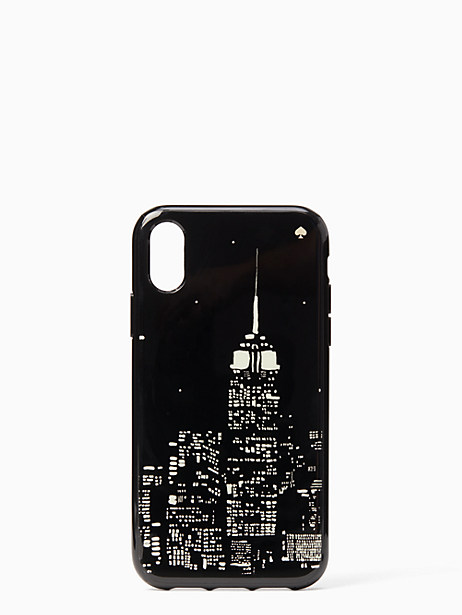 glow in the dark skyline iphone xr case by kate spade new york