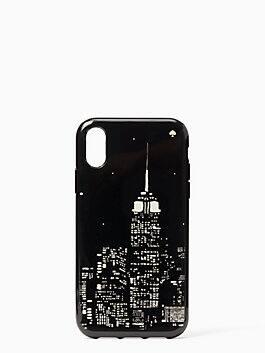 glow in the dark skyline iphone xr case, multi, medium
