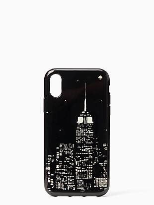 glow in the dark skyline iphone xr case by kate spade new york non-hover view