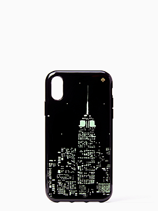 glow in the dark skyline iphone xr case by kate spade new york hover view