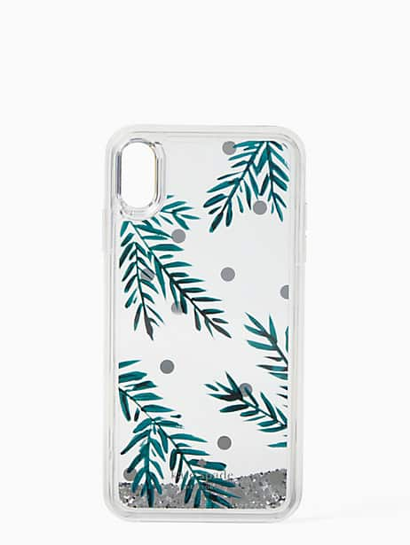 holly liquid glitter iphone xs max case by kate spade new york