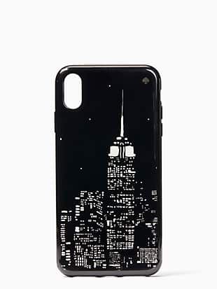 glow in the dark skyline iphone xs max case by kate spade new york non-hover view