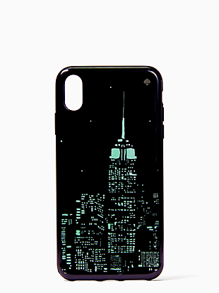 glow in the dark skyline iphone xs max case by kate spade new york hover view