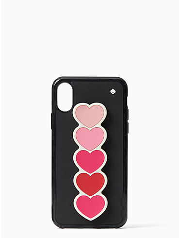ombre heart iphone x & xs stand case, , rr_productgrid