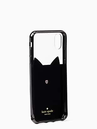 jeweled glitter cat iphone xs max  case by kate spade new york hover view