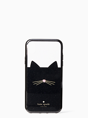 jeweled glitter cat iphone xr case by kate spade new york non-hover view
