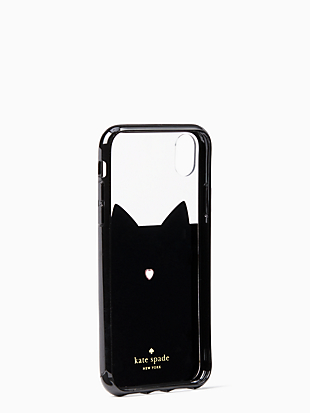 jeweled glitter cat iphone xr case by kate spade new york hover view