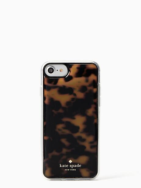 tortoise shell hands free iphone x & xs case by kate spade new york