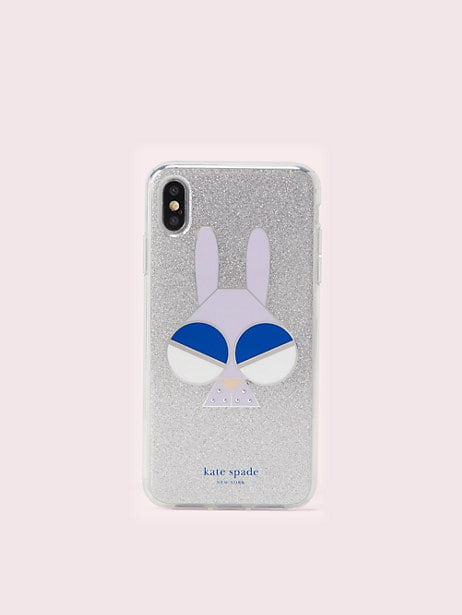 spademals glitter bunny iphone xs max case by kate spade new york